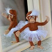 Куклы и игрушки ручной работы. Ярмарка Мастеров - ручная работа Обезьянка балерина.. Handmade.