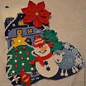 Подарки к праздникам handmade. Livemaster - original item Christmas boot applique. Handmade.