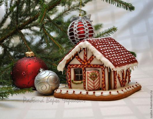 """Кулинарные сувениры ручной работы. Ярмарка Мастеров - ручная работа. Купить """"Европейский"""" пряничный домик - оригинальный подарок на новый год. Handmade."""