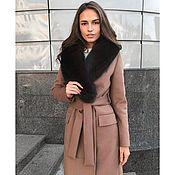 Одежда handmade. Livemaster - original item Beige winter coat with natural Fox fur. Handmade.