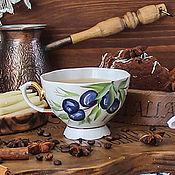 Посуда handmade. Livemaster - original item Tea mug with the author`s painting