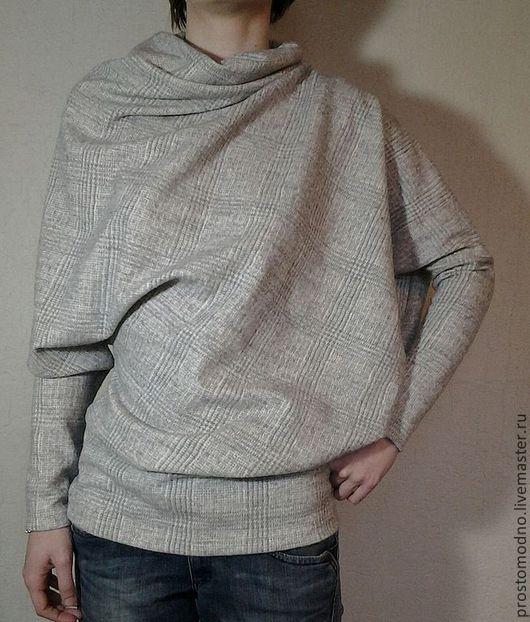 Кофты и свитера ручной работы. Ярмарка Мастеров - ручная работа. Купить Топ Туманная Дымка. Handmade. Серый, шерсть, асимметрия