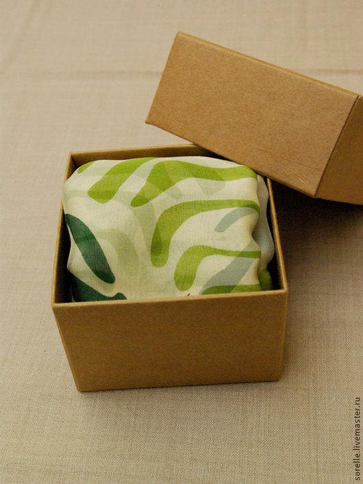 Шали, палантины ручной работы. Ярмарка Мастеров - ручная работа. Купить Зеленые зебры.Шелковый платок. Handmade. Зеленый, зебра