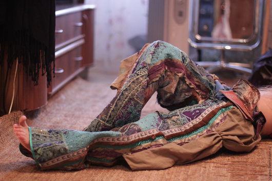 Брюки, шорты ручной работы. Ярмарка Мастеров - ручная работа. Купить брюки ЭТНО. Handmade. Разноцветный, брюки женские, бохо