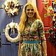 Dress 'Birthday girl' from Pavlovoposadskaja scarf. Dresses. hrom2483. Online shopping on My Livemaster.  Фото №2