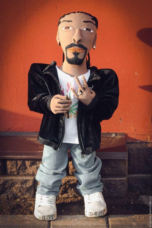 Портретные куклы ручной работы. Ярмарка Мастеров - ручная работа. Купить Туситой Snoop Dogg. Handmade. Комбинированный, снуп догг
