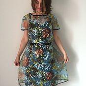"""Одежда ручной работы. Ярмарка Мастеров - ручная работа Платье """"Алина"""" из шелка и органзы. Handmade."""