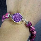 Украшения handmade. Livemaster - original item Natural variscite and Druse quartz bracelet. Handmade.