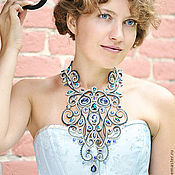 Украшения handmade. Livemaster - original item Baroque necklace with Swarovski crystals. Handmade.