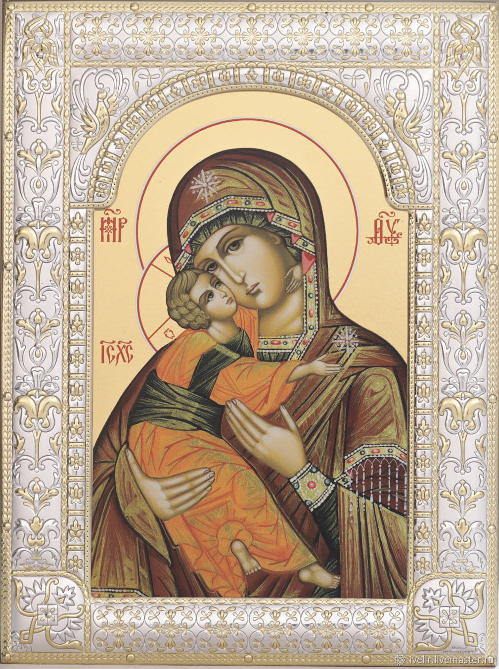 Vladimir icon of the mother of God (18x24cm), Icons, Moscow,  Фото №1