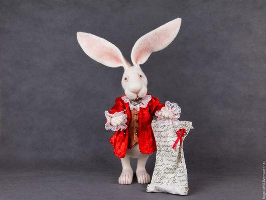 Сказочные персонажи ручной работы. Ярмарка Мастеров - ручная работа. Купить Белый Кролик. Handmade. Белый, сюртук, алиса в зазеркалье