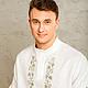 Для мужчин, ручной работы. Мужская крестильная рубашка. Все для Крещения (krestilnoe). Ярмарка Мастеров. Крещение