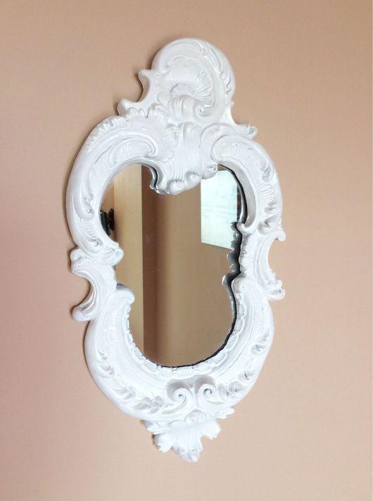 Зеркала ручной работы. Ярмарка Мастеров - ручная работа. Купить Зеркало белое барокко. Handmade. Зеркало, свадьба, раритет, гипс