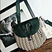 Классическая сумка ручной работы. Ярмарка Мастеров - ручная работа Сумка-ракушка с тисненым слоном изумрудного цвета. Handmade.