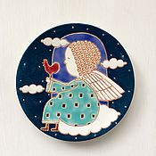 """Тарелки ручной работы. Ярмарка Мастеров - ручная работа Тарелки """" Мой Ангел """". Handmade."""
