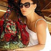 """Сумки и аксессуары ручной работы. Ярмарка Мастеров - ручная работа """"фламенко"""" войлочная сумка. Handmade."""