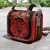 Сумки и аксессуары handmade. Livemaster - original item Handmade leather bag - demonic Celtic coat of arms. Handmade.