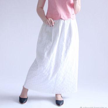 Одежда ручной работы. Ярмарка Мастеров - ручная работа Юбка летняя белая. Handmade.