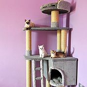 Для домашних животных, handmade. Livemaster - original item House for cats Can be bought (suitable for large cats). Handmade.