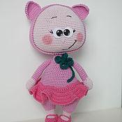 Куклы и игрушки handmade. Livemaster - original item Bonnie in costume Pigs knit. Handmade.