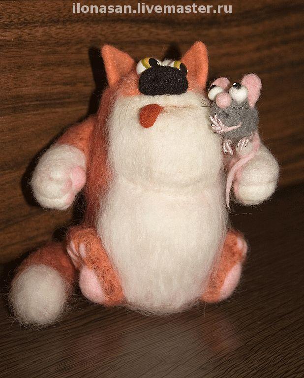 Кот и Мышь (сухое валяние), Войлочная игрушка, Владивосток,  Фото №1