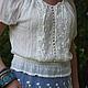 """Блузки ручной работы. Ярмарка Мастеров - ручная работа. Купить Блузка из коллекции """"Provence"""" кружево , прованс, винтаж, бохо стиль. Handmade."""