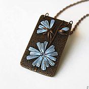 Украшения handmade. Livemaster - original item Pendant from polymer clay Chicory. Handmade.