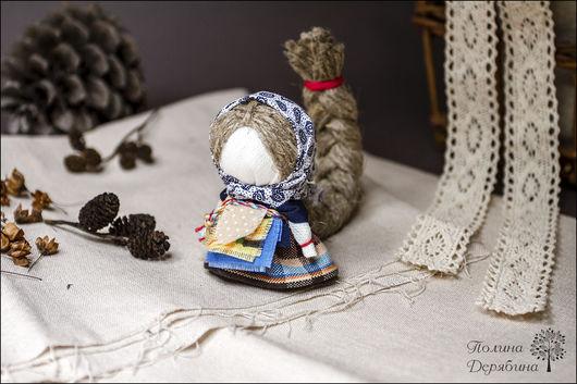 """Народные куклы ручной работы. Ярмарка Мастеров - ручная работа. Купить Куколка """"Разумница"""" на счастье. Handmade. Тёмно-синий"""