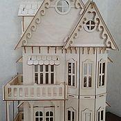 Кукольный домик с мебелью, кукольный дом