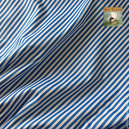 """Шитье ручной работы. Ярмарка Мастеров - ручная работа. Купить 100% хлопок, Китай  """"синяя полоска"""". Handmade. Ткань"""