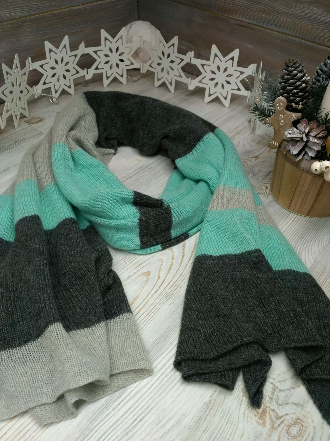 100% cashmere loro Piana and Cariaggi scarf, Scarves, St. Petersburg,  Фото №1