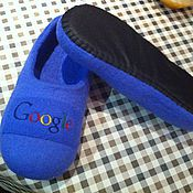 """Обувь ручной работы. Ярмарка Мастеров - ручная работа Тапочки """"Google"""". Handmade."""