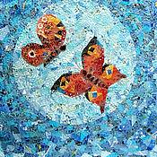 Картины и панно ручной работы. Ярмарка Мастеров - ручная работа Танец бабочек. Лоскутное панно. Handmade.