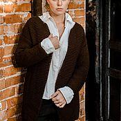 Одежда handmade. Livemaster - original item Cardigan hand-knitted slip -