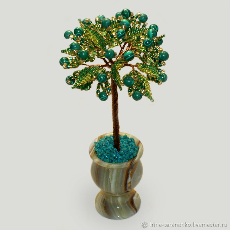 Tree from malachite