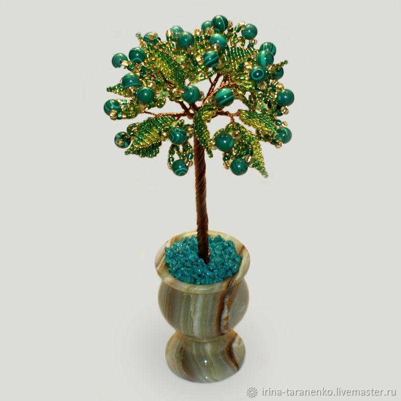 Дерево из малахита «Обнять счастье»