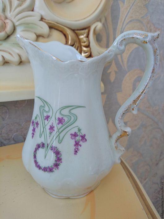 Винтажная посуда. Ярмарка Мастеров - ручная работа. Купить фарфоровый кувшин молочник. Handmade. Старинный фарфор, деколь, фарфор европа