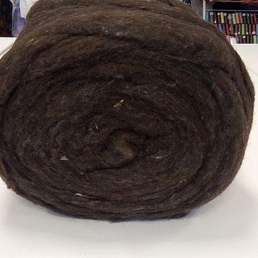 Материалы для творчества ручной работы. Ярмарка Мастеров - ручная работа Неокрашенная шерсть Мерино 21 мкн (сливер),коричневый. Handmade.