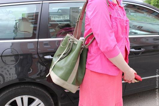 Женские сумки ручной работы. Ярмарка Мастеров - ручная работа. Купить сумка торба. Handmade. Зеленый, модный фасон, шопер