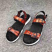 Обувь ручной работы handmade. Livemaster - original item Crocodile leather sandals, summer casual shoes!. Handmade.