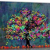Картины и панно handmade. Livemaster - original item Pictures: autumn tree. Handmade.