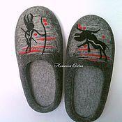"""Тапочки ручной работы. Ярмарка Мастеров - ручная работа мужские тапочки """"Африка"""". Handmade."""