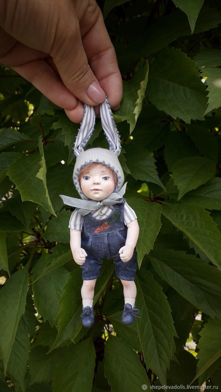 Bunny pocket doll made of polymer clay Doll-chatterbox, Dolls, Beloretsk,  Фото №1