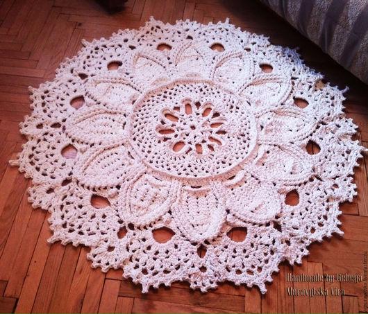 Текстиль, ковры ручной работы. Ярмарка Мастеров - ручная работа. Купить Ковер вязаный. Handmade. Ковер ручной работы