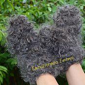 Аксессуары handmade. Livemaster - original item Curly feather mittens Warm. Handmade.