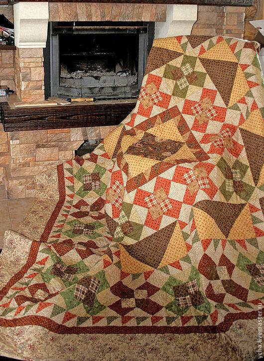 """Текстиль, ковры ручной работы. Ярмарка Мастеров - ручная работа. Купить Покрывало """"Италия"""". Handmade. Лоскутное одеяло, покрывало на кровать"""