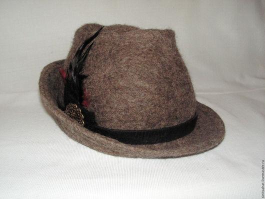 Шляпы ручной работы. Ярмарка Мастеров - ручная работа. Купить Тирольская шляпа. Handmade. Серый, шляпа женская, ручная работа