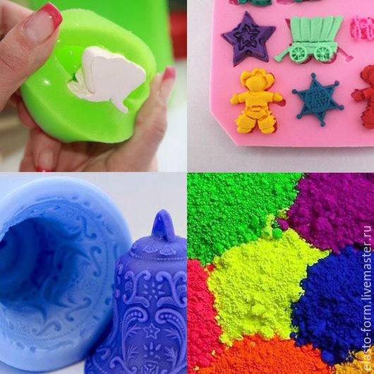Другие виды рукоделия ручной работы. Ярмарка Мастеров - ручная работа. Купить Набор 5 ярких пигментов флуоресцентных для силиконов. Handmade.