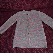 Работы для детей, ручной работы. Ярмарка Мастеров - ручная работа Жакет-пальто для девочки. Handmade.