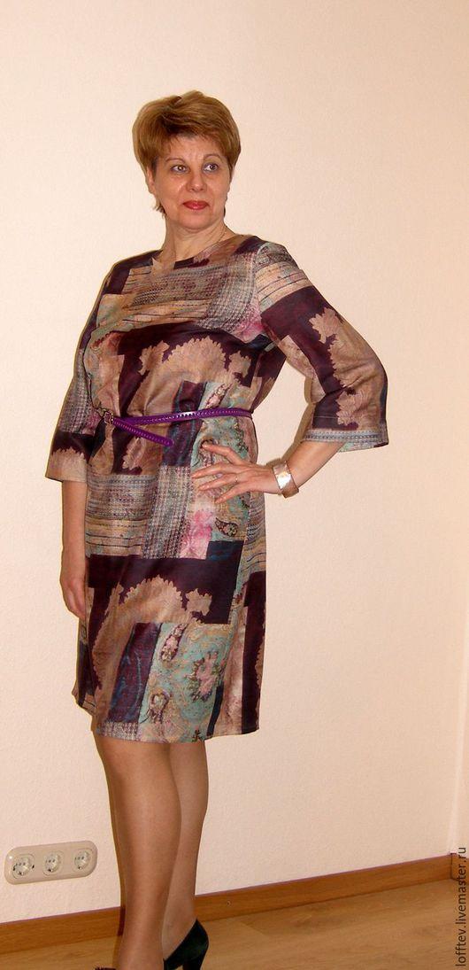 Платья ручной работы. Ярмарка Мастеров - ручная работа. Купить Платье прямое шерстяное рукав тричетверти. Handmade. Бежевый